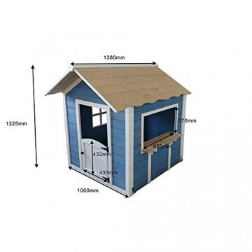 Home Deluxe - Spielhaus - Der große Palast blau - ohne Bank - inkl. komplettem Zubehör - 5