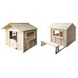 Home Deluxe - Spielhaus - Der große Palast Natur - mit Bank - Inkl. komplettem Zubehör - 1