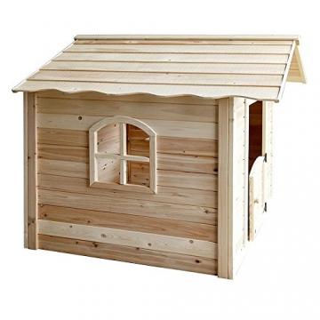 Home Deluxe - Spielhaus - Der große Palast Natur - mit Bank - Inkl. komplettem Zubehör - 4