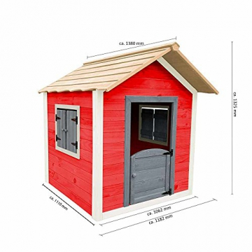 Home Deluxe - umweltfreundliches Spielhaus für Kinder - Das kleine Schloss - 101 x 106 x 128 cm - Inkl. komplettem Montagematerial - 7