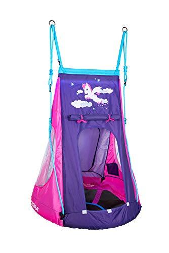 HUDORA 72151 Nestschaukel Cosmos 90 Nestchaukel mit Zelt und LED Beleuchtung, blau/schwarz - 2