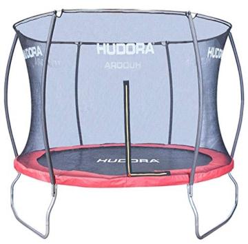 HUDORA Fantastic Trampolin 300 cm - Hochwertiges und sicheres Garten-Trampolin mit Sicherheitsnetz für die ganze Familie, Mehrkarton-Variante - 1