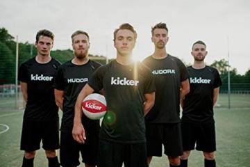HUDORA Kinder & Erwachsene Pop Up Fußballtor Edition, 2er Set | Faltbares Fußball-Tor im exklusiven Kicker Design für den Garten und unterwegs, rot, 120 x 80 x 80 cm - 5