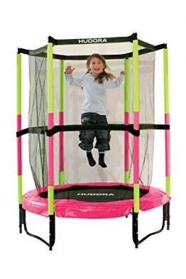 HUDORA Kinder-Trampolin Jump In mit Sicherheitsnetz - 140 cm, pink - 65609 - 1