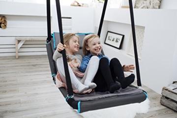 HUDORA Nestschaukel Eckig Hollywood, anthrazit/türkis , Indoor & Outdoor geeignet , Nest-Schaukel zum Sitzen & Liegen , 72165 - 6