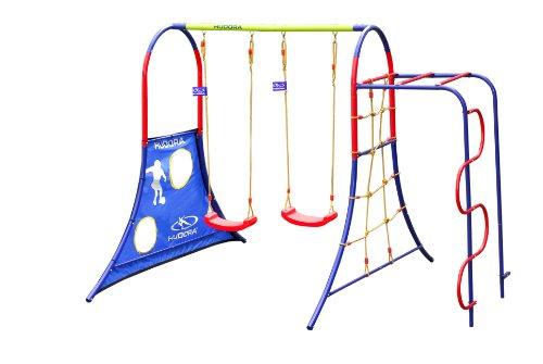 HUDORA Spielplatz für den Garten mit Kinder-Schaukeln & Klettergerüst - 64019 -