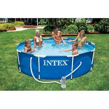 Intex 28202GN Metal Frame Pool - Aufstellpool -  Ø 305 x 76 cm - 1