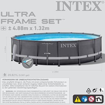 Intex 28924GH Frame Pool Set Ultra Rondo, Ø 488 x 132 cm - 4