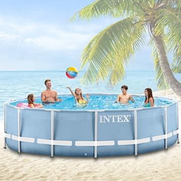 Intex 366x122 cm Schwimmbecken Swimming Pool Schwimmbad Frame Metal 28904 -