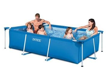 Intex 3in1 Set Gartenpool 260 x 160 x 65cm Pool mit Filterpumpe - 3