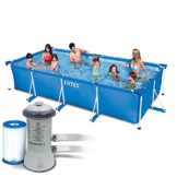 Intex 3in1 Set Rectangular Frame Pool 450 x 220 x 84 cm mit Filterpumpe 3407 Liter/Stunde 28273 - 1