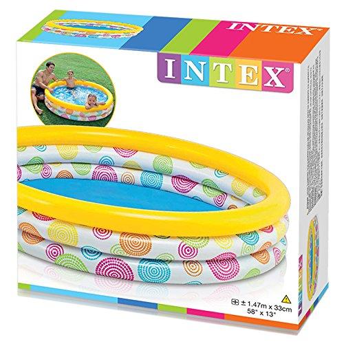 Intex 58439NP - 3-Ring-Pool - Wild Geometry, Durchmesser 147 x 33 cm -