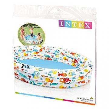Intex–aufblasbares Planschbecken Farben + Base 61x 22cm-33L–57106NP - 3