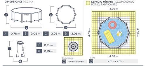 Intex Aufstellpool Frame Pool Set Rondo, Blau, Ø 305 x 76cm - 8