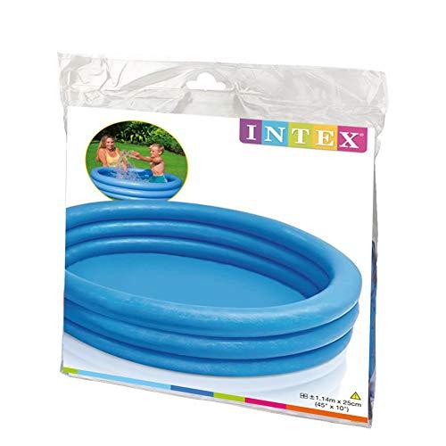 Intex Crystal Blue Pool - Kinder Aufstellpool - Planschbecken - Ø 114 cm x 25 cm - Für 2+ Jahre - 3