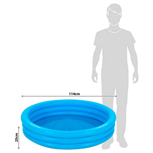 Intex Crystal Blue Pool - Kinder Aufstellpool - Planschbecken - Ø 114 cm x 25 cm - Für 2+ Jahre - 4