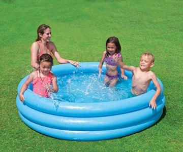 Intex Crystal Blue Pool - Kinder Aufstellpool - Planschbecken - Ø 168 cm x 38 cm - Für 2+ Jahre - 6
