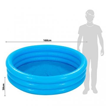 Intex Crystal Blue Pool - Kinder Aufstellpool - Planschbecken - Ø 168 cm x 38 cm - Für 2+ Jahre - 7