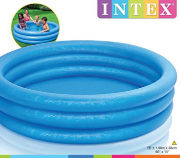 Intex Crystal Blue Pool - Kinder Aufstellpool - Planschbecken - Ø 168 cm x 38 cm - Für 2+ Jahre - 9