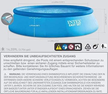 Intex Easy Set Aufstellpool, blau, Ø 457 x 122 cm - 2