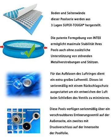 Intex Easy Set Aufstellpool, blau, Ø 457 x 122 cm - 3