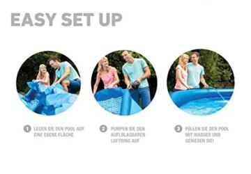 Intex Easy Set Aufstellpool, blau, Ø 457 x 122 cm - 4
