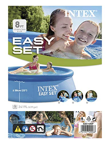 Intex Easy Set Pool - Aufstellpool, 244 x 76 cm - 5