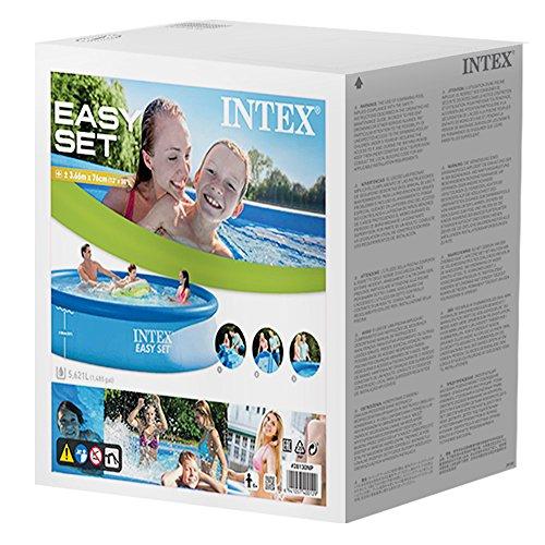 Intex Easy Set Pool - Aufstellpool, 366cm x 366cm x 76cm - 3