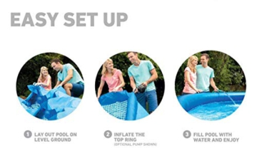 Intex Easy Set Pool - Aufstellpool, 366cm x 366cm x 76cm - 5
