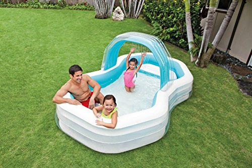 Intex Family Lounge Pool Schwimmbad aufblasbar Familienpool 310x188x130cm 57198 - 3