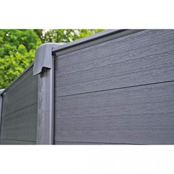 Intex Graphite Gray Panel Pool Set - Panel Wand Aufstellpool - Sehr luxuriös und robust - Ø 478 x 124 cm - Zubehör enthalten - 6