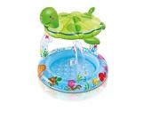 Intex Kinderplanschbecken meeresschildkröte mit sonnendach - 1