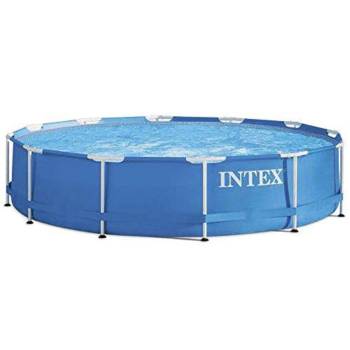 Intex Metal Frame Pool - Aufstellpool - Ø 366 x 76 cm - Mit Filteranlage - 1
