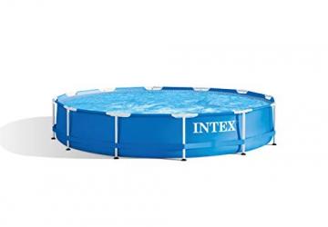 Intex Metal Frame Pool - Aufstellpool -  Ø 366 x 76 cm - Mit Filteranlage - 12V - 1