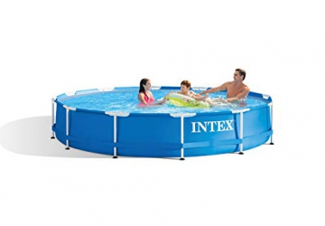 Intex Metal Frame Pool - Aufstellpool -  Ø 366 x 76 cm - Mit Filteranlage - 12V - 2