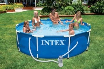 Intex Metal Frame Pool - Aufstellpool - Ø 366 x 76 cm - Mit Filteranlage - 3