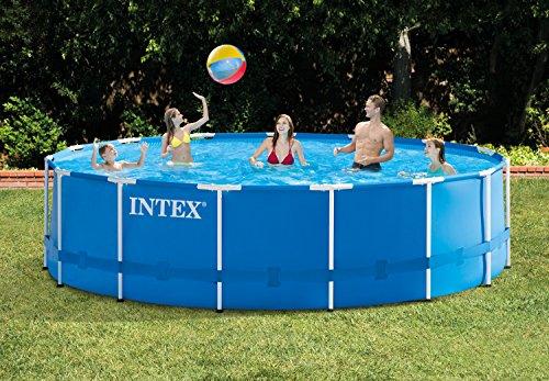 Intex Metal Frame Pool Set - Aufstellpool - Ø 457 x 122 cm - Zubehör enthalten - 3
