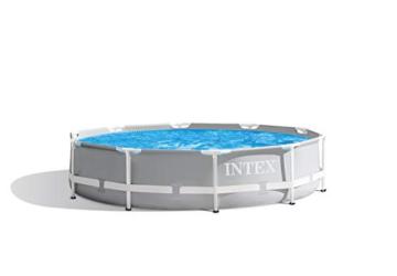 Intex Prism Rondo Ø 305 x 76 cm Frame Pool Set, Hellgrau - 1