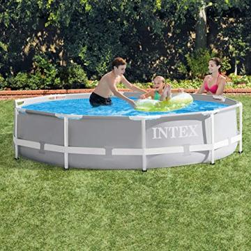 Intex Prism Rondo Ø 305 x 76 cm Frame Pool Set, Hellgrau - 2