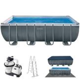 Intex Schwimmbadrahmen-Set Ultra Quadra, 549 x 274 x 132 cm, XTR 26356 - 1
