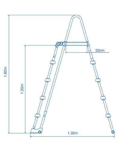 Intex Schwimmbadrahmen-Set Ultra Quadra, 549 x 274 x 132 cm, XTR 26356 - 4