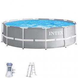 Intex Schwimmbecken Pool Ø 366 x 99 cm Frame Pool Set Prism Rondo 26716 - 1
