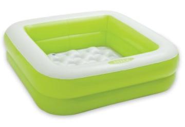 Intex Spielkiste, Swimming Pool, aufblasbar, quadratisch, für Babys und Kleinkinder, 57100, 57100, Grün 57100 - 1