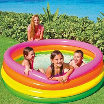 Intex Sunset Glow Pool - Kinder Aufstellpool - Planschbecken - Ø 168 x 46 cm - Für 3+ Jahre - 2
