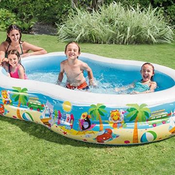Intex Swim Center Seashore Pool - Kinder Aufstellpool - Planschbecken - 262 x 160 x 46 cm - Für 3+ Jahre - 2
