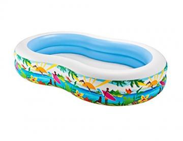 Intex Swim Center Seashore Pool - Kinder Aufstellpool - Planschbecken - 262 x 160 x 46 cm - Für 3+ Jahre - 3
