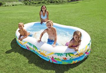 Intex Swim Center Seashore Pool - Kinder Aufstellpool - Planschbecken - 262 x 160 x 46 cm - Für 3+ Jahre - 4