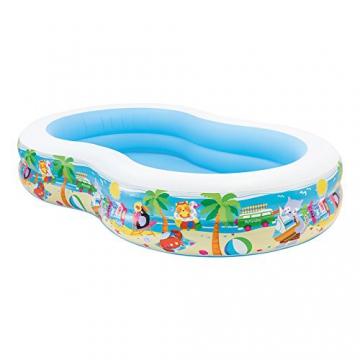 Intex Swim Center Seashore Pool - Kinder Aufstellpool - Planschbecken - 262 x 160 x 46 cm - Für 3+ Jahre - 1