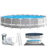 Intex Swimming Ø 610 x 132 cm Pool Frame Pool Set Prism Rondo 26756 - 1