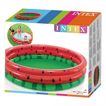 Intex Watermelon Aufblasbarer Pool, Multi Color - 5